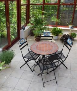 Wintergartenmöbel aus Metall